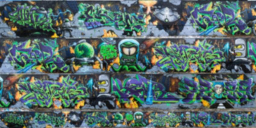 Gek Team Fresque Graffiti Saint-Etienne Bellevue Invasion