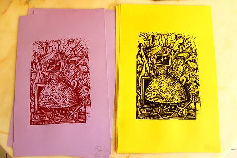 sérigraphie de dorian roulet octobre 2017 tirage limité à 13 exemplaires. Sérigraphie print technique artisanale f it main Impression d'art