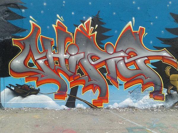 Chipie Graffiti Lyon the grinch Gek team