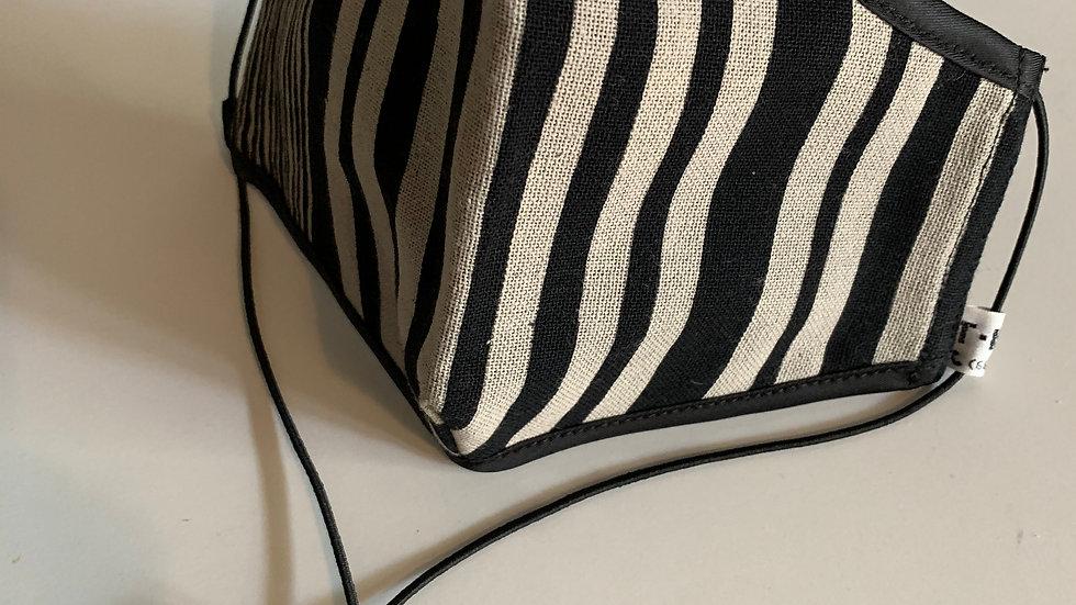Black and White Stripe Mask
