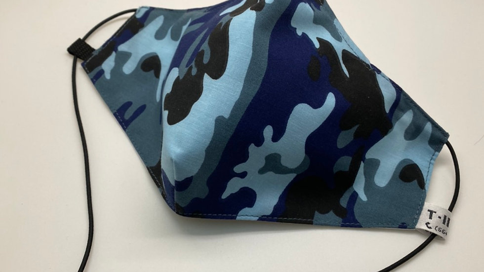 Blue Camo (Design may vary)
