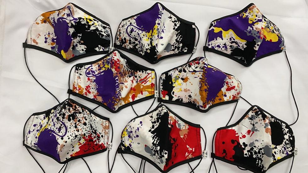 Paint Splatter Black Trim w/ Purple (Design Varies)