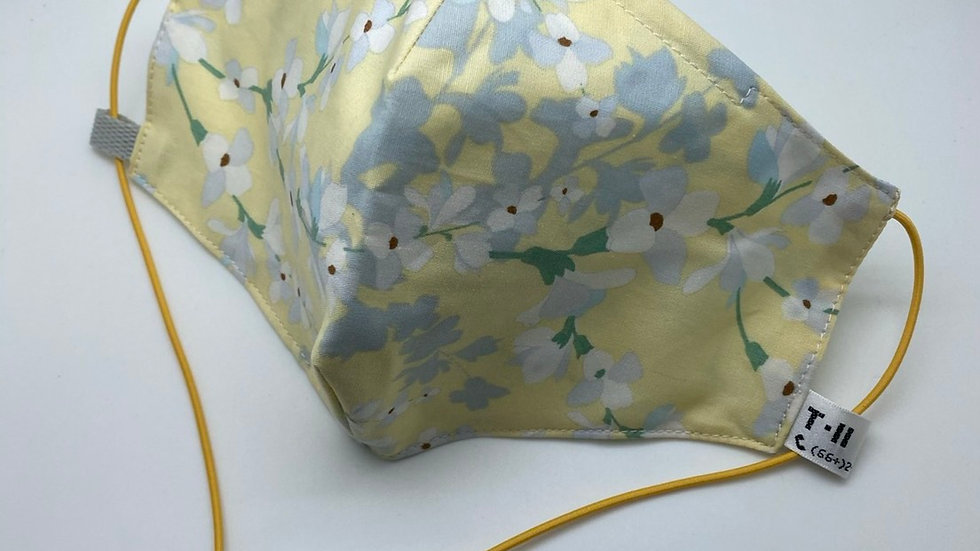 Yellow with Gray Floral (Design may vary)