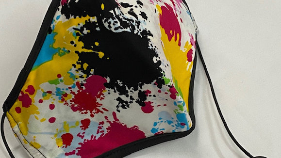 Paint Splatter Black Trim w/ Pink (Design Varies)