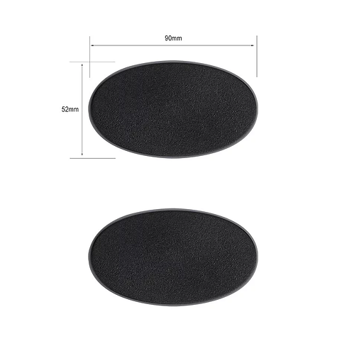 Socles Ovales 90x52mm (x2)