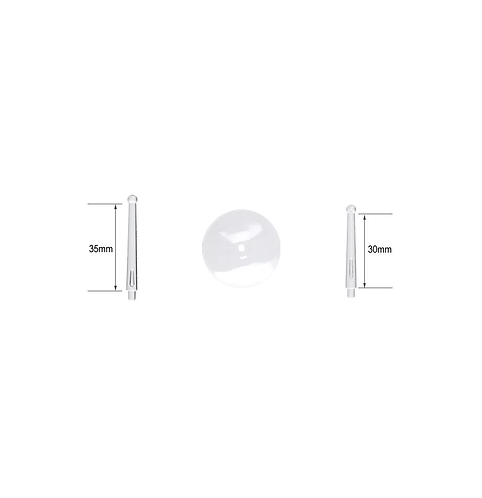 Tiges à rotule et socles ronds 32mm (x5)