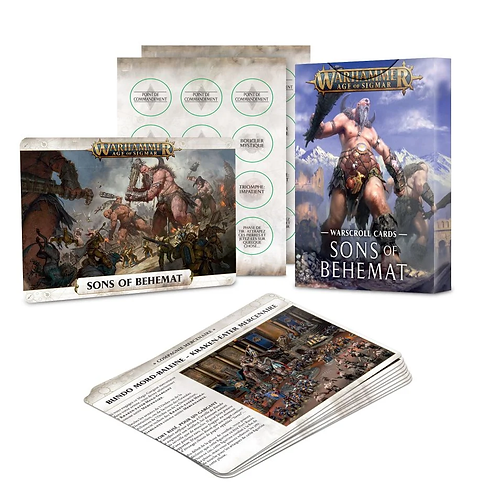 Warscroll Cards: Sons of Behemat (Anglais)