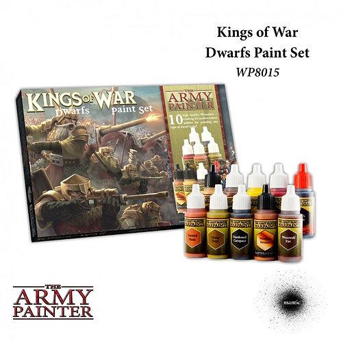 Kings Of War: Dwarfs Paint Set