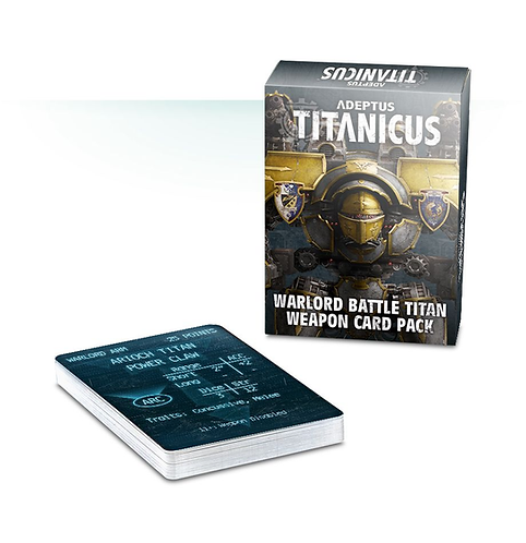 Warlord Battle Titan Weapon Card Pack (Anglais)