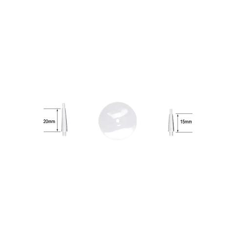 Tiges volantes et socles ronds 32mm (x5)