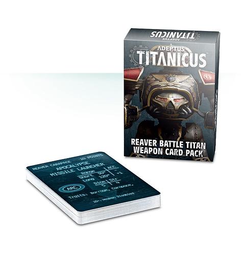 Reaver Battle Titan Weapon Card Pack (Anglais)