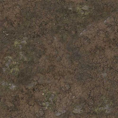 Muddy Streets Gaming Mat 2x2
