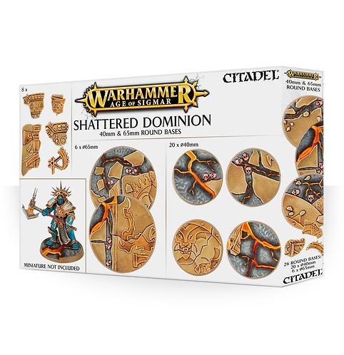 Shattered Dominion: socles ronds de 40 et 65mm