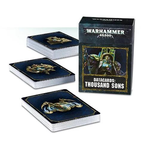 Datacards: Thousand Sons (Anglais)
