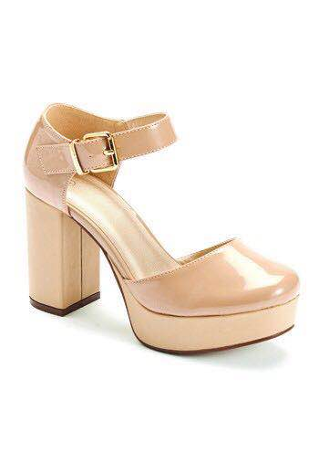 Beige Chunky Heels | House of Sole Ireland Womens Shoes Boots