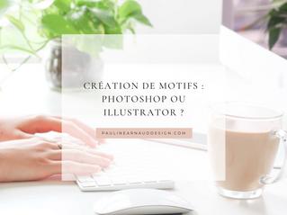 CRÉATION DE MOTIFS : PHOTOSHOP OU ILLUSTRATOR ?
