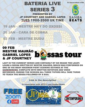 Bateria Live Bossas Tour Live poster .jp