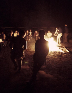 Fun at the camp fire