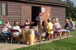 outside drumming