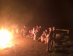 Camp fire live music and fun