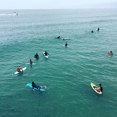 Watching surfers