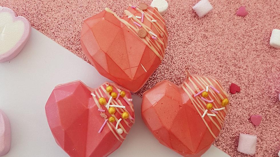 Heart Hot Chocolate Bombs