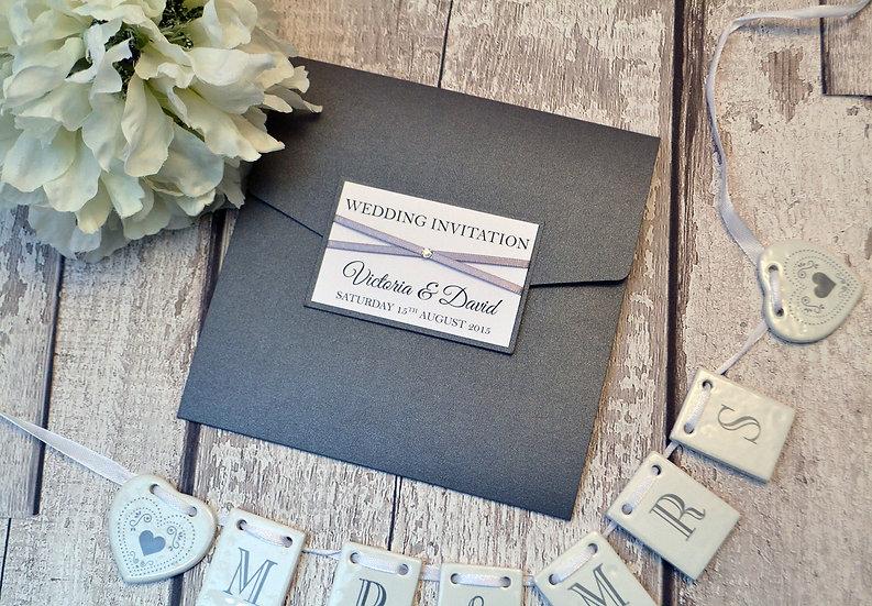 Grace Pocketfold Wedding Invitation