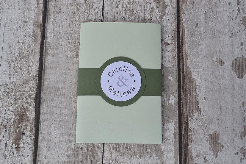 Wallet Mint Green & Olive Green