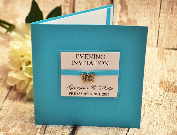 Charmed Butterfly Evening Invitation
