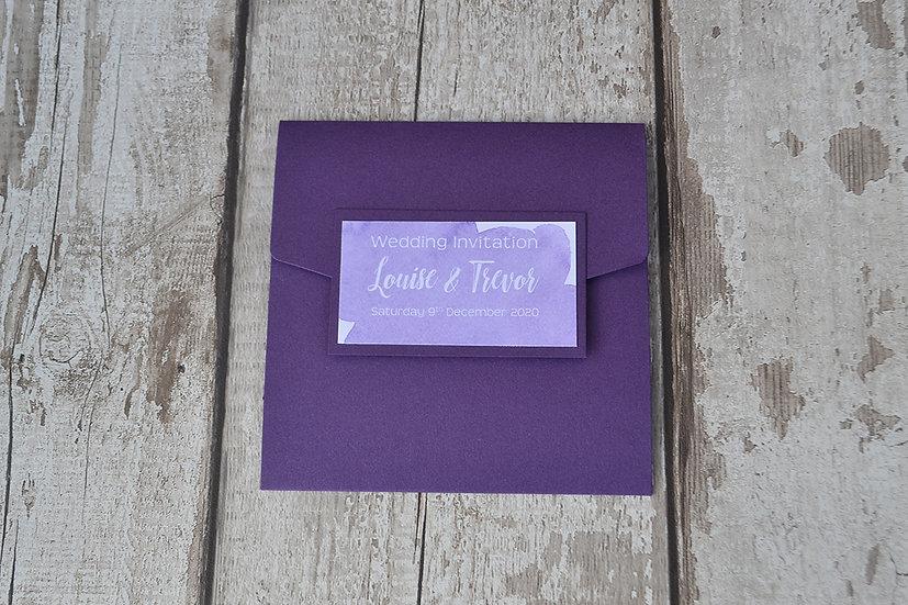 Classic Pocketfold Watersolour Purple