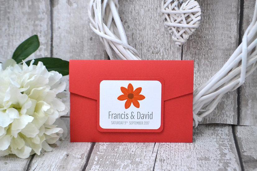 Authentics Pocketfold Red Flower