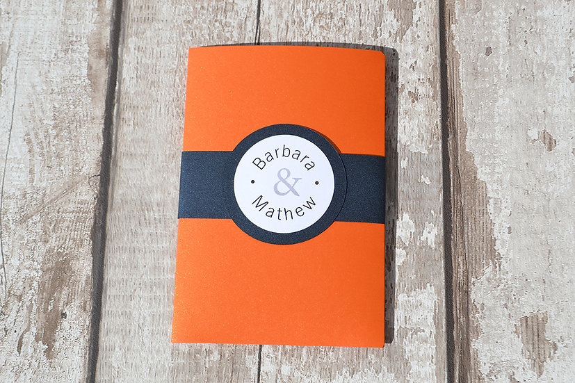 Wallet Orange & Navy