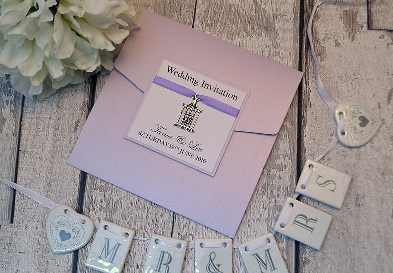 Charmed Wedding Invitation (Birdcage)