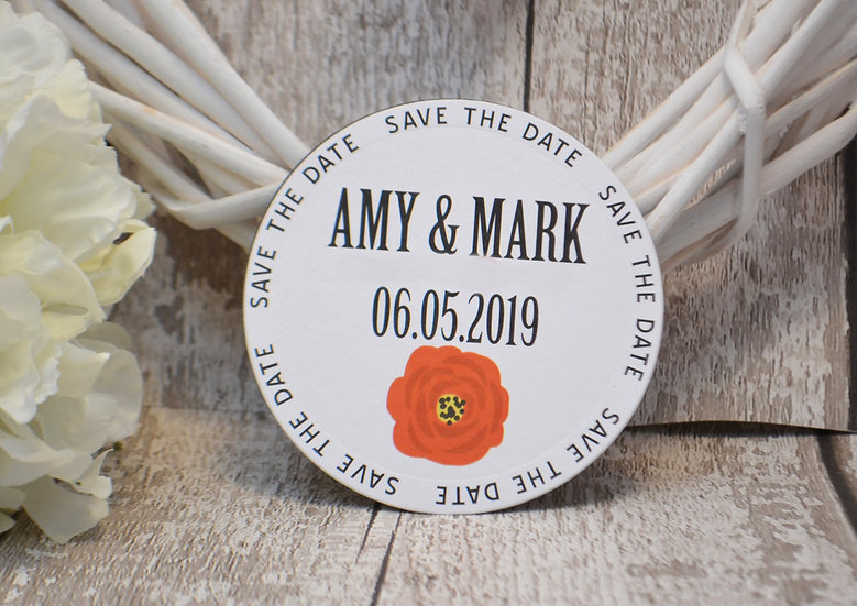 Large Round Magnetic Save The Date