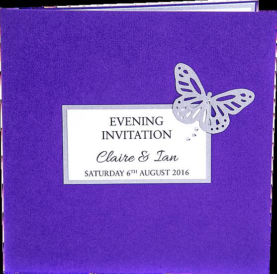 Flutterby Evening Invitation