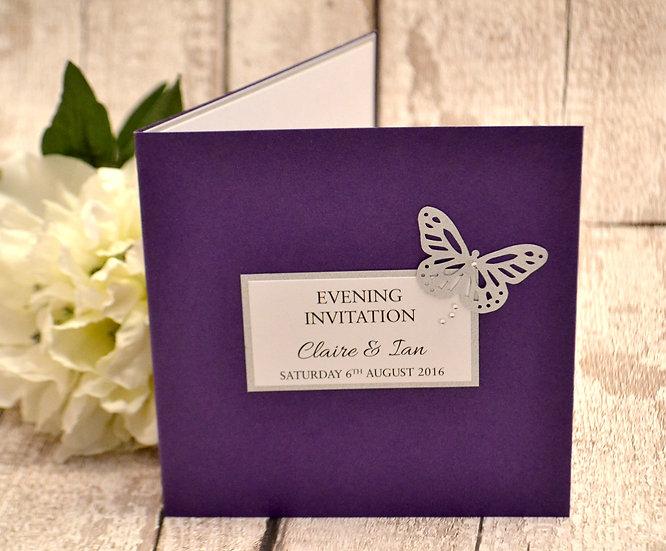 Flutterfly Evening Invitation