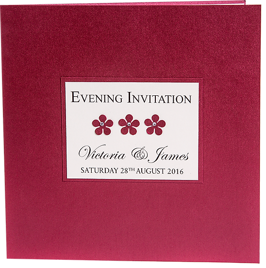 Flowers Evening Invitation