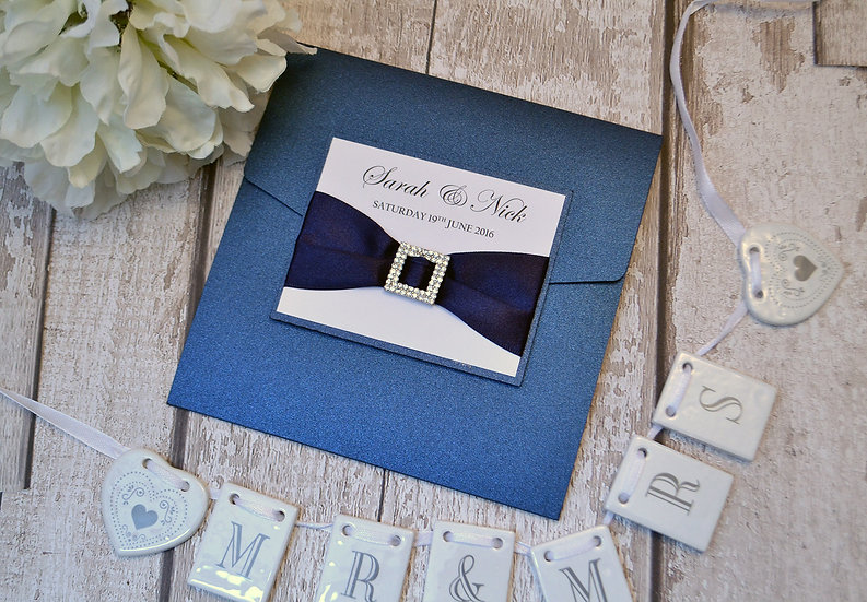 Buckles Pocketfold Wedding Invitation