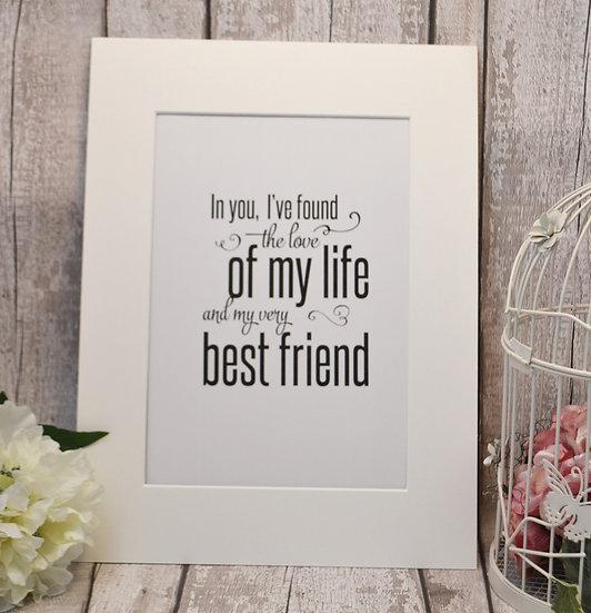 Best Friend Wall Print
