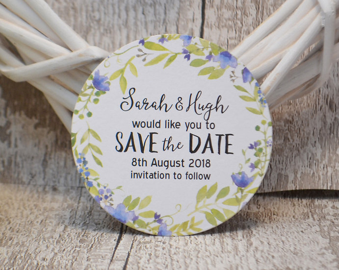 Small Round Magnetic Save The Date