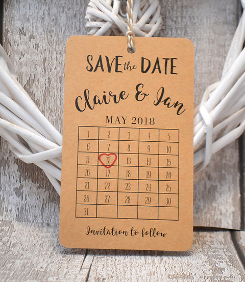 Luggage Tag Calendar Save The Date