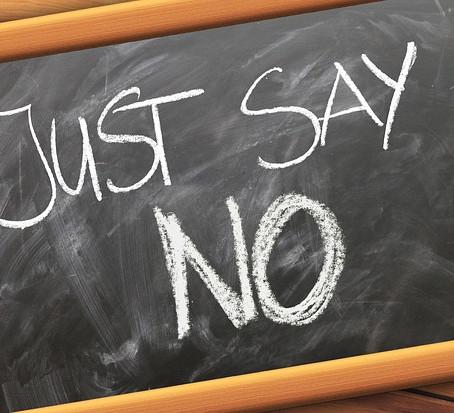 Dire no: semplicemente. Per cambiare.