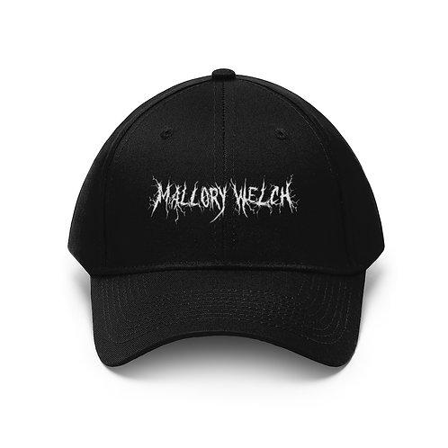 Mallory Welch Black Metal Unisex Twill Hat