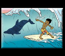 Magnet TATOON Surfer