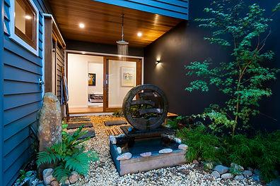 Outdoor shower installation