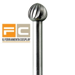 Fresa in acciaio Ø 6,0 mm - sfera