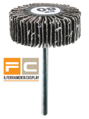Ruota abrasiva lamellare Ø 30 x 10 mm
