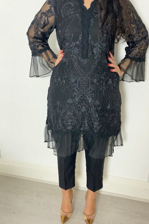 PRE ORDER THREE PIECE LUXE ORGANZA OUTFIT