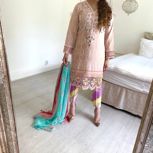 THREE PIECE LINEN OUTFIT Maria b inspired