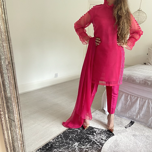 THREE PIECE READY TO WEAR LUXE ORGANZA OUTFIT